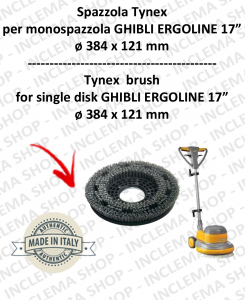 SPAZZOLA TYNEX  per monospazzola GHIBLI ERGOLINE 17 POLLICI. Modello: tynex  ø384 X 121