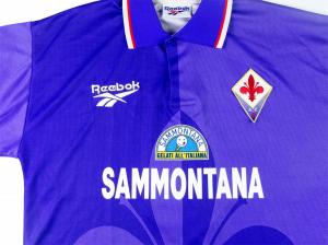 1995-96 Fiorentina Maglia Home Match Worn #6 Padalino XL
