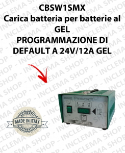 CBSW1SMX 12V-24V 12A carica batterie per batterie al GEL