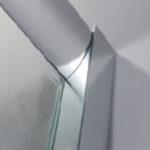 PORTA A BATTENTE PER BOX DOCCIA-NICCHIA DA 100 CM IN CRISTALLO TRASPARENTE TEMPERATO DA 6mm E PROFILI CROMATI LUCIDI-2