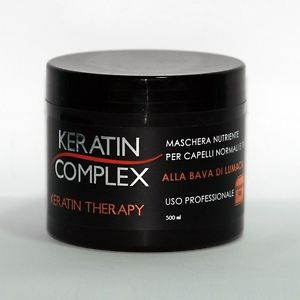 Keratin Complex Maschera professionale nutriente Per capelli normali e trattati Alla Bava di Lumaca