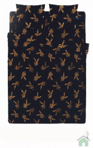 Set lenzuola Playboy Coniglietti Nero letto singolo