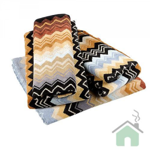 Missoni Home Bathroom Set 1 towel + 1 guest GIACOMO 160 zigzag