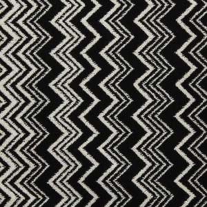 Badteppich Missoni Home Weiß schwarz Zickzack Keith 70 x 160
