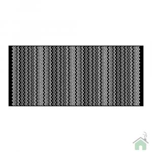 Missoni Home Bath mat | Keith 70 x 160 zigzag black and white