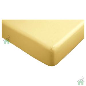 Lenzuola con angoli matrimoniali per letti grandi 190x215 cm - giallo