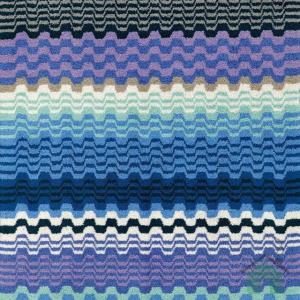 Set Asciugamani Missoni 1 asciugamano + 1 ospite LARA 170 fantasia blu