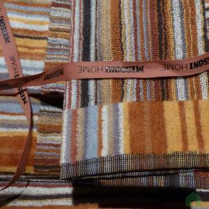 Missoni Home Towels - 1 hand towel + 1 bath towel  Jazz var.160 striped brown