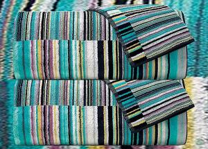 Set asciugamani Missoni Home 1  Telo + 2 asciugamani + 2 ospiti JAZZ 170
