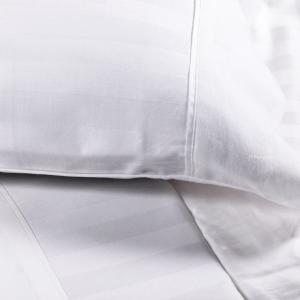 Lenzuola in raso Cotone Matrimoniale Maxi Sopra Sotto e federe Trendy bianco