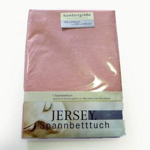 Lenzuola di cotone con angoli matrimoniali Jersey di maglina - rosa