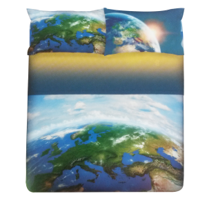 Bedding-bedspreads Gabel 2 top squares photo printing MOON