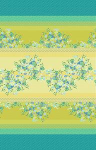 Bassetti Granfoulard telo AMARILLA var.2 350x270 cm floreale smeraldo