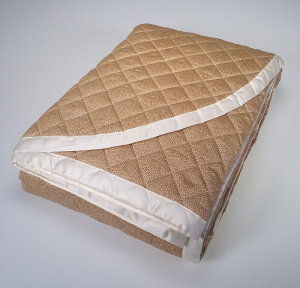 Satin quilted bedspread double Borbonese SAND 270x260 brown