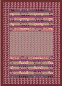 Bassetti Plaid Granfoulard 135x190 cm TORMALINE var.9 fuxia