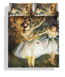 Set lenzuola per letto matrimoniale Le Ballerine  DEGAS stampa fotografica