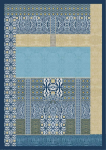 Bassetti Plaid Granfoulard 135x190 cm EBANO var.3 blu Idea regalo originale