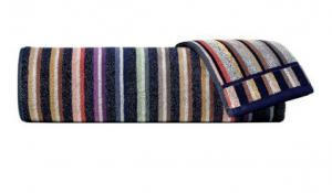 Set Asciugamani Missoni 1 asciugamano + 1 ospite TESEO righe multicolor