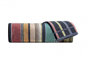 Set Asciugamani Missoni 1 asciugamano + 1 ospite TOMMASO 100 multicolore striped