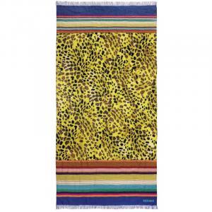 Telo mare Pareo Missoni in purissimo lino 90x180 TINKA multicolore con frange