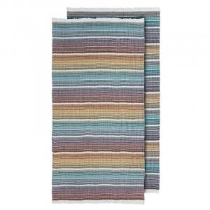 Telo mare Pareo Missoni Puro lino 100x190 TARQUINIO multicolore con frange