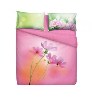 Set copripiumino letto singolo 1 piazza BASSETTI PINK SPRING rosa