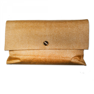 Plaid wool Borbonese brown gift idea 135x160 cm SUEDE with pochette