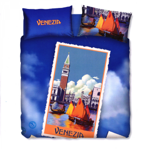 Set copripiumino letto piazza e mezza BASSETTI VENEZIA stampa digitale