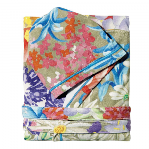 Accappatoio corto Missoni Home con cappuccio floreale multicolore SABINA M