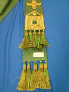 Stola verde solenne