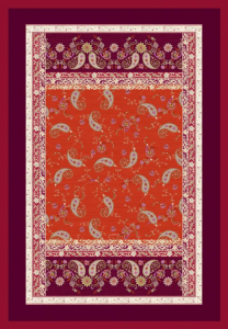 Bassetti Plaid Granfoulard 135x190 cm RAFFAELLO v.1 rosso regalo originale