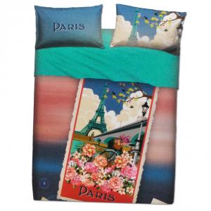 Set lenzuola matrimoniale 2 piazze BASSETTI PARIS stampa digitale