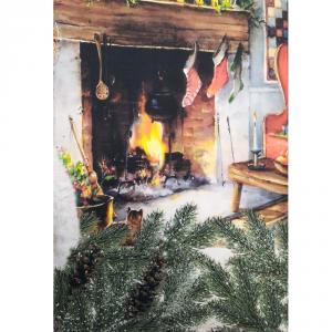 Tovaglia x6 Persone 150x180 stampa digitale GATTINI idea regalo Natale