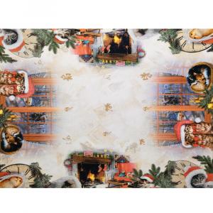 Tovaglia x12 Persone 150x250 stampa digitale GATTINI idea regalo Natale