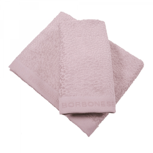Set 1+1 coppia di spugne asciugamano e ospite Borbonese VELVET OP tortora
