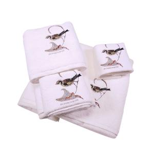 Set 5 asciugamani- 2 asciugamani+2 ospiti+1 telo Borbonese PARADISE OP avorio