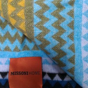 Missoni Home Plaid mit Fransen 130x190 cm HUMBERT T70 blau
