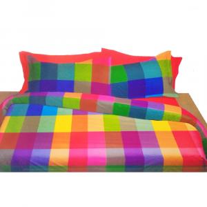 Set lenzuola matrimoniale 2 piazze Bossi Casa Arlecchino multicolore