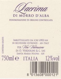 Vino Lacrima di Morro d'Alba DOC - 75cl