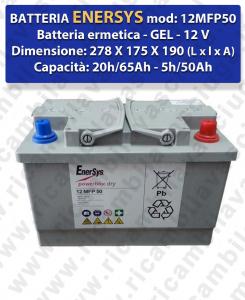BATTERIA AL GEL per LAVAPAVIMENTI LAVOR modello SCL QUICK 36B   - ENERSYS - 12V 65Ah 20/h