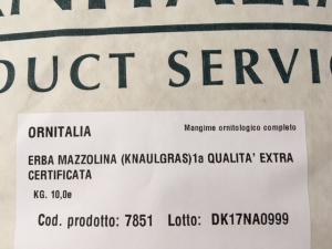 ERBA MAZZOLINA (KNAULGRAS) 1a QUALITA' EXTRA CERTIFICATA 2.5kg
