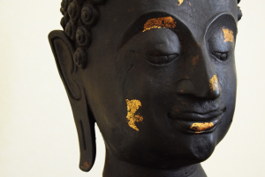 Scultura Buddha Indonesiana in bronzo fine 800 - statua