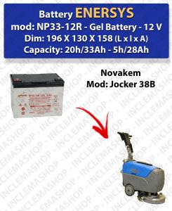 Batterie GEL per lavapavimenti Novakem modello Jocker 38B