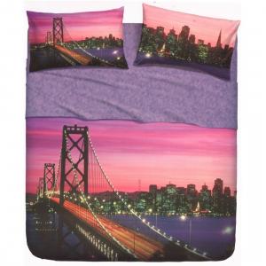 Set lenzuola letto singolo 1 piazza BASSETTI SAN FRANCISCO effetto copriletto