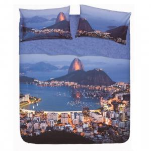 Set lenzuola letto singolo 1 piazza BASSETTI RIO effetto copriletto