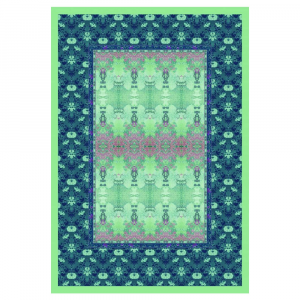 Bassetti Plaid Granfoulard 135x190 cm TAFFETA' v.5 verde regalo originale