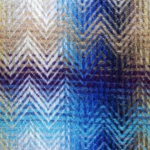 Missoni Home Decke 130x190cm MONTGOMERY 170 blau-blaue Wollmischung