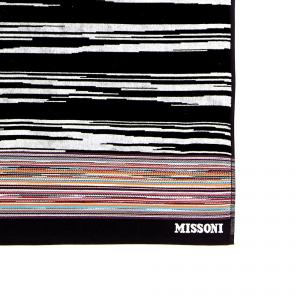 Telo da mare Missoni Home VINCENT righe 100 x 180 bianco e nero