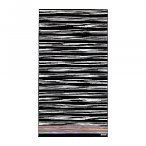 Missoni Home 2018 telo mare VINCENT 603 bianco e nero 100x180 cm