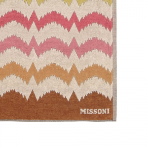 Telo mare Missoni Home VERA zig-zag 100x180 cm beige